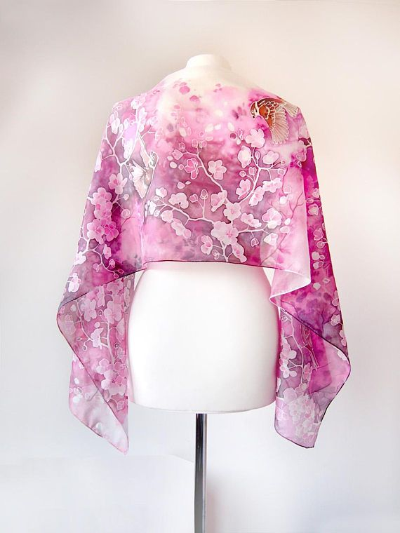 Silk Square Scarf - Sakura by VIDA VIDA eeOCm