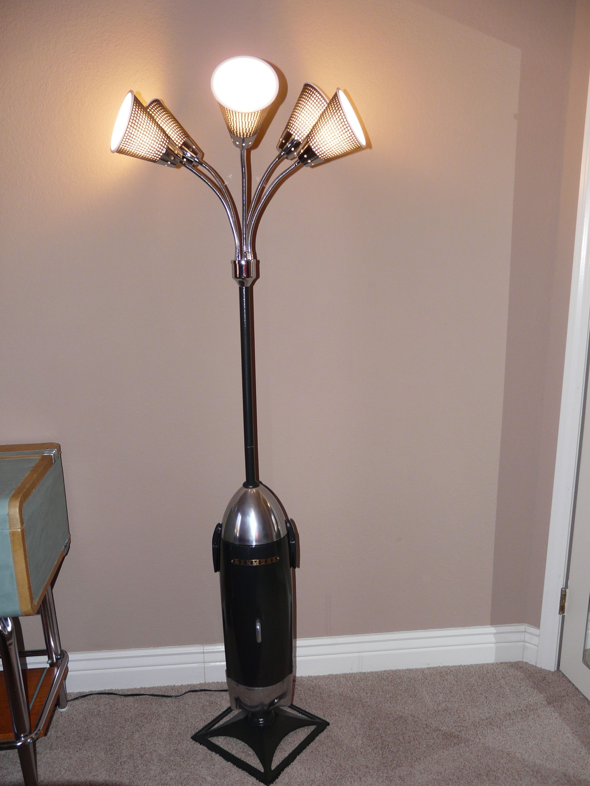 Upcycled Lamp Made From Vintage Kenmore Canister Style