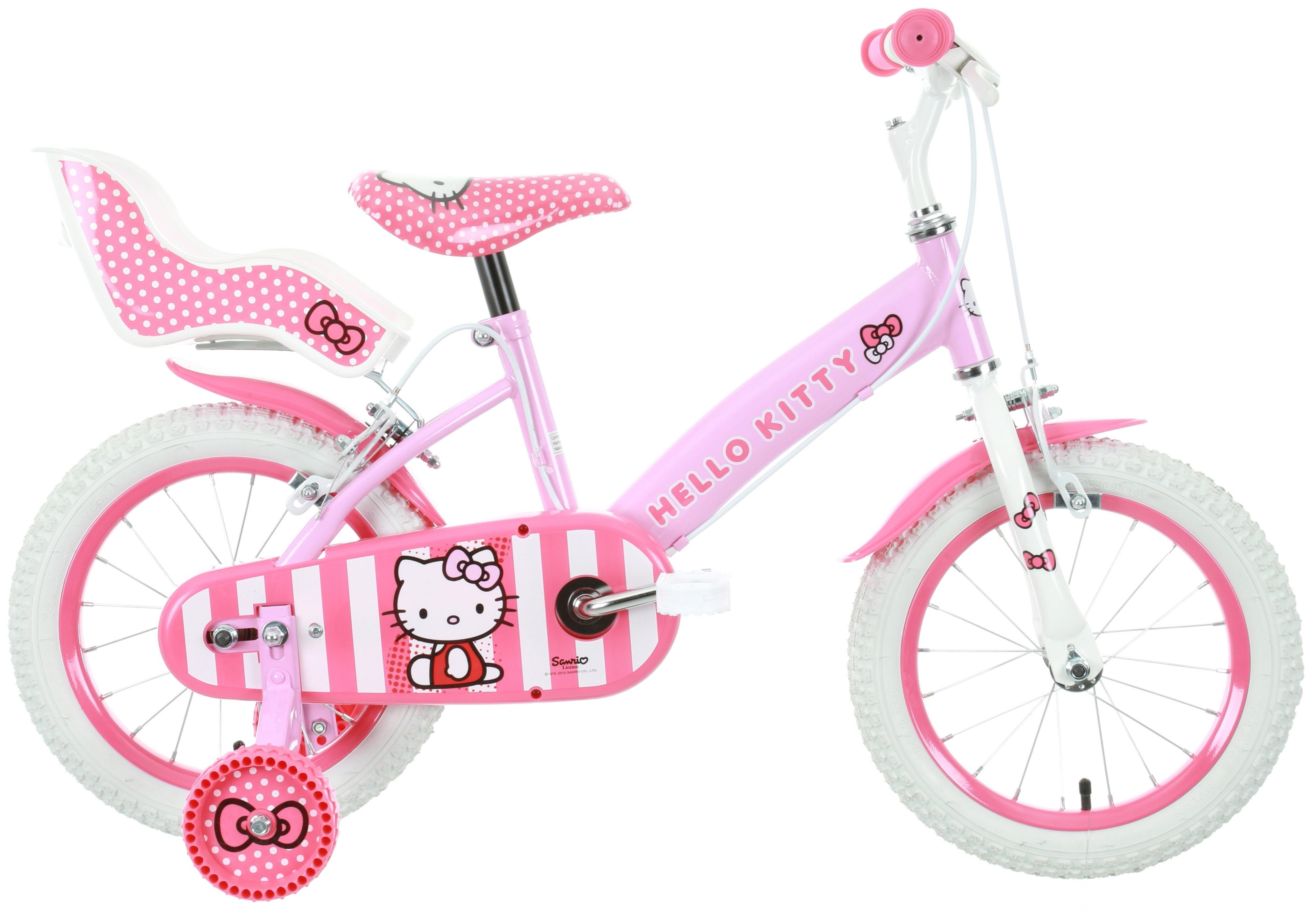 Purrfect for Hello Kitty fans this lush bike has a fully enclosed