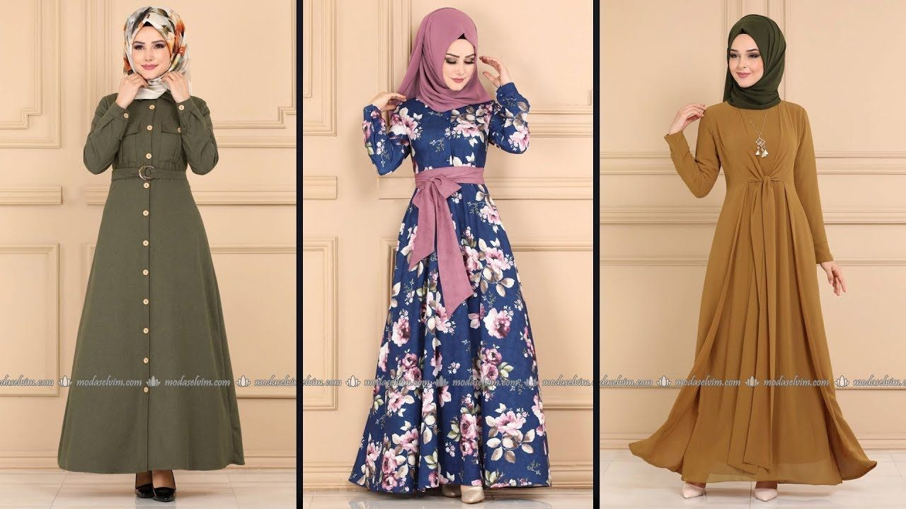 Modaselvim 2020 Winter Hijab Dresses 34 31 Modaselvim Dress By Modanzi Tesettur In 2020 Hijab Dress Fashion Dresses