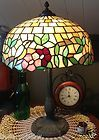 For Sale - Antique Leaded Slag glass Lamp Yellow Birds & flowers-Tiffany Handel Mosaic era