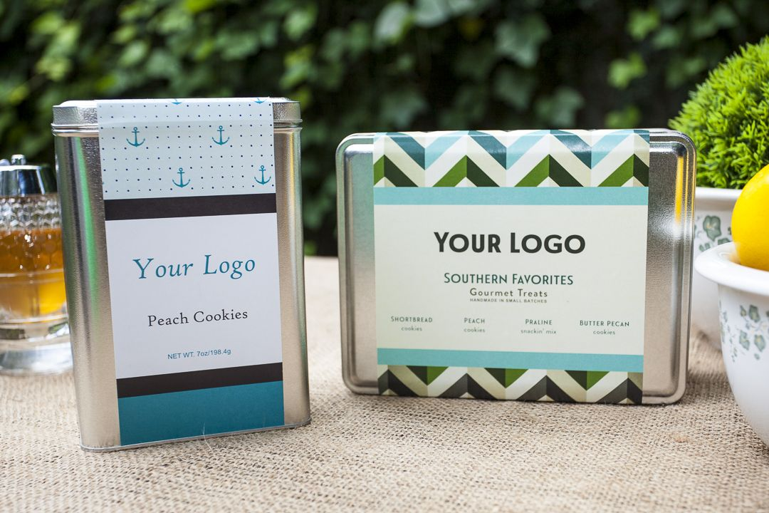 Two and four flavor everyday custom label tins