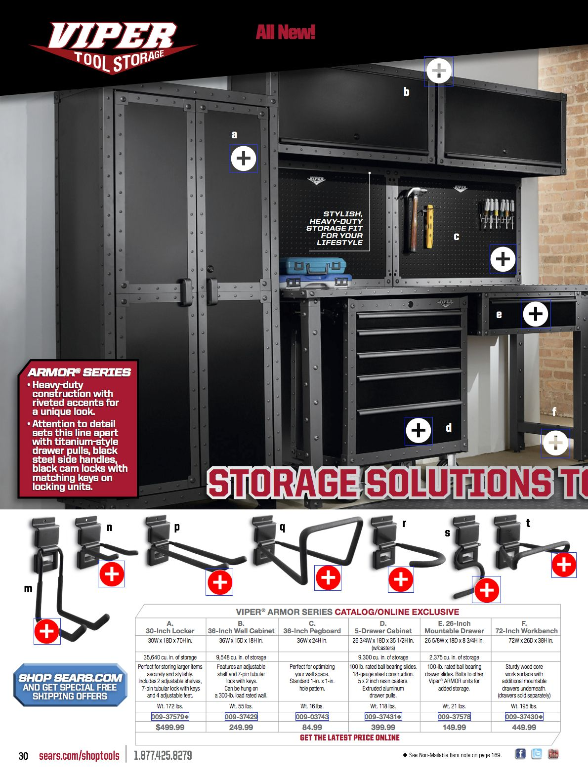 Viper tool storage system for garage. Like black locker, workbench and  cabinets. Via - Viper Tool Storage System For Garage. Like Black Locker, Workbench