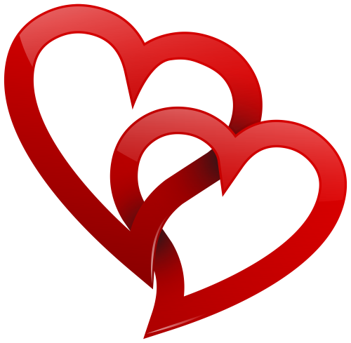 Two Red Hearts Png Clipart The Best Png Clipart Heart Clip Art Heart Wallpaper Heart Art