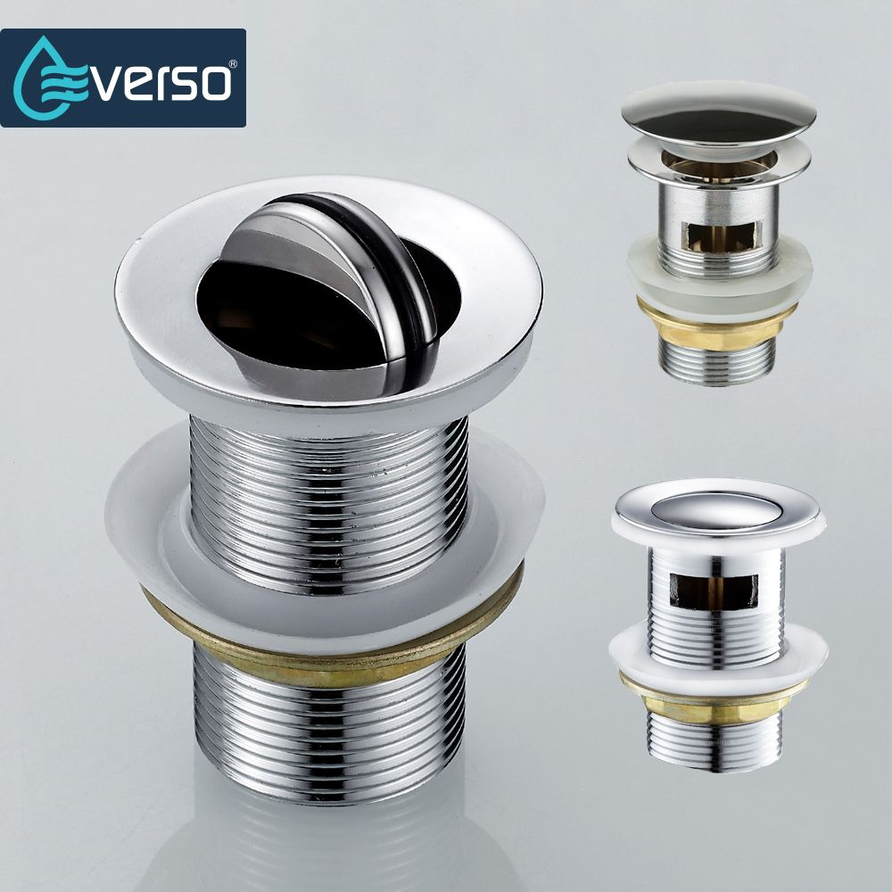 EVERSO Pop Up Drain With Overflow Bathroom