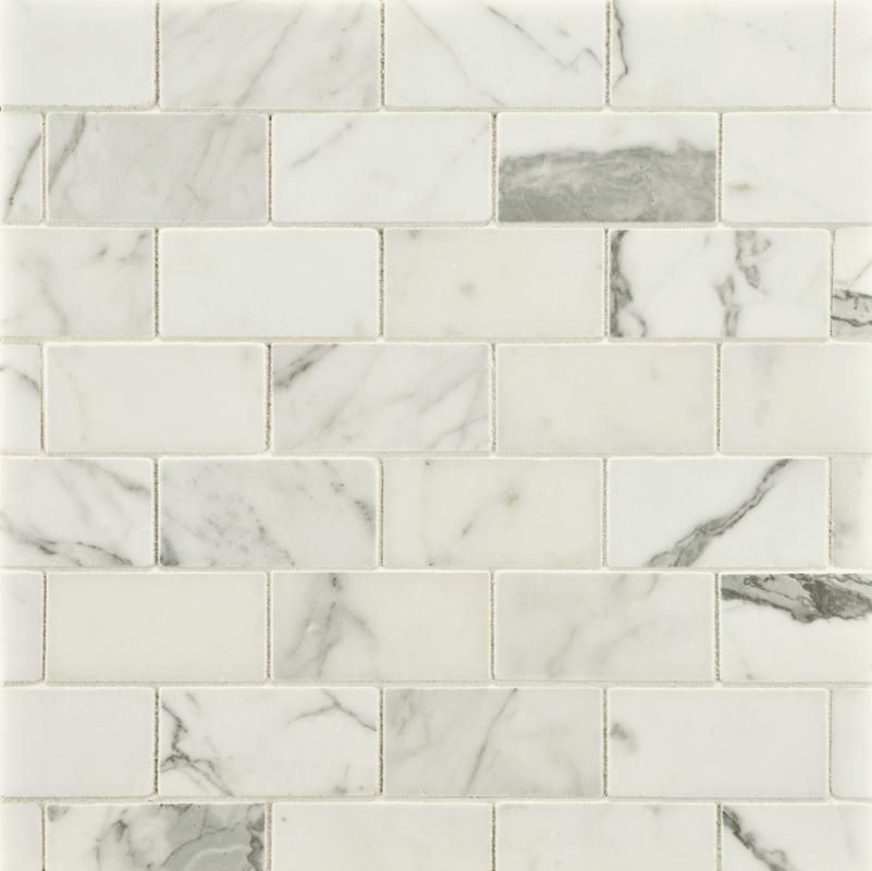 Ann Sacks Statuary Clic 1 2 X 3 Offset Marble Mosaic In