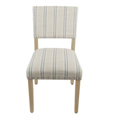 Gracie Oaks Camilo Stripe Upholstered Dining Chair Upholstery