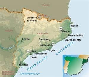 Carte Espagne La Catalogne.Carte Villes Catalogne Espagne Yahoo Image Search Results