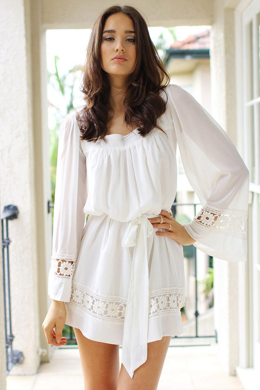 Ivory Dawn Dress. xxl l/s TEE, CUT OFF RIBBING ADD CASING FOR ...