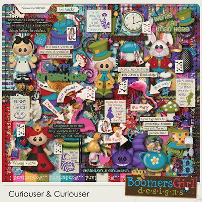 "BoomersGirl Designs: ""Curiouser & Curiouser"" Digital Kit"