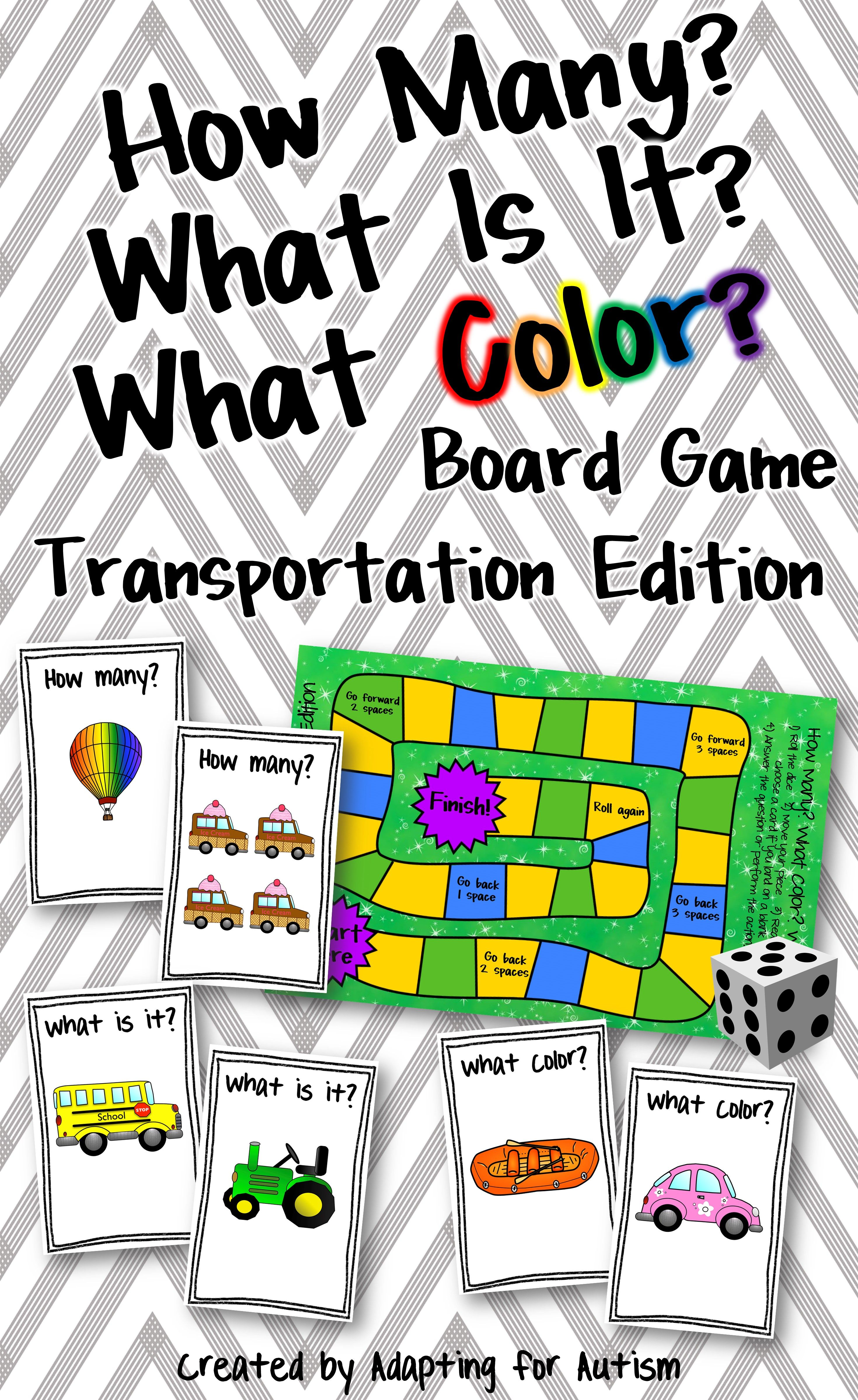 This engaging transportation themed board game targets vocabulary as ...