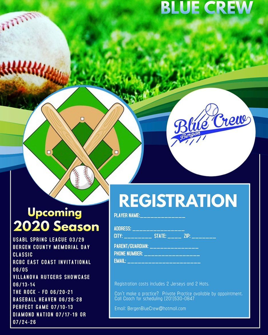 Schedule Ready! See a tournament that interest you this season?  All 14U-15U Tri-State ball players are welcomed to try out for our Blue Crew team.  If interested email bergenbluecrew@hotmail.com, send us a DM or call 201-530-0847 to get exact details.  #clubbaseball #travelbaseball #tournamentbaseball #winterworkouts #springbaseball #happynewyear #bergenbluecrew #bergencountynj #newjerseybaseball #teaneck #hackensacknj #englewoodnj #bronx #queensnyc #manhattan #newyork #newjersey #summer #fall