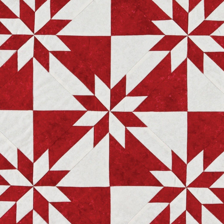 Closeup Go Festive Hunter Star Quilt Pattern Pq10293