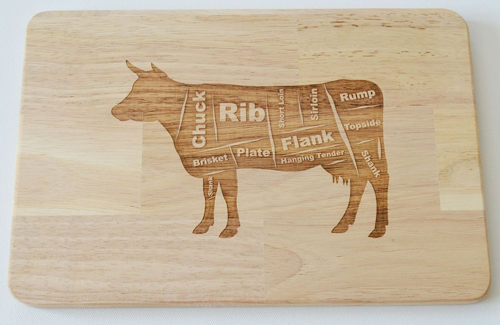 Texas Longhorn Bull laser cut and engraved wood Magnet Great Gift Idea