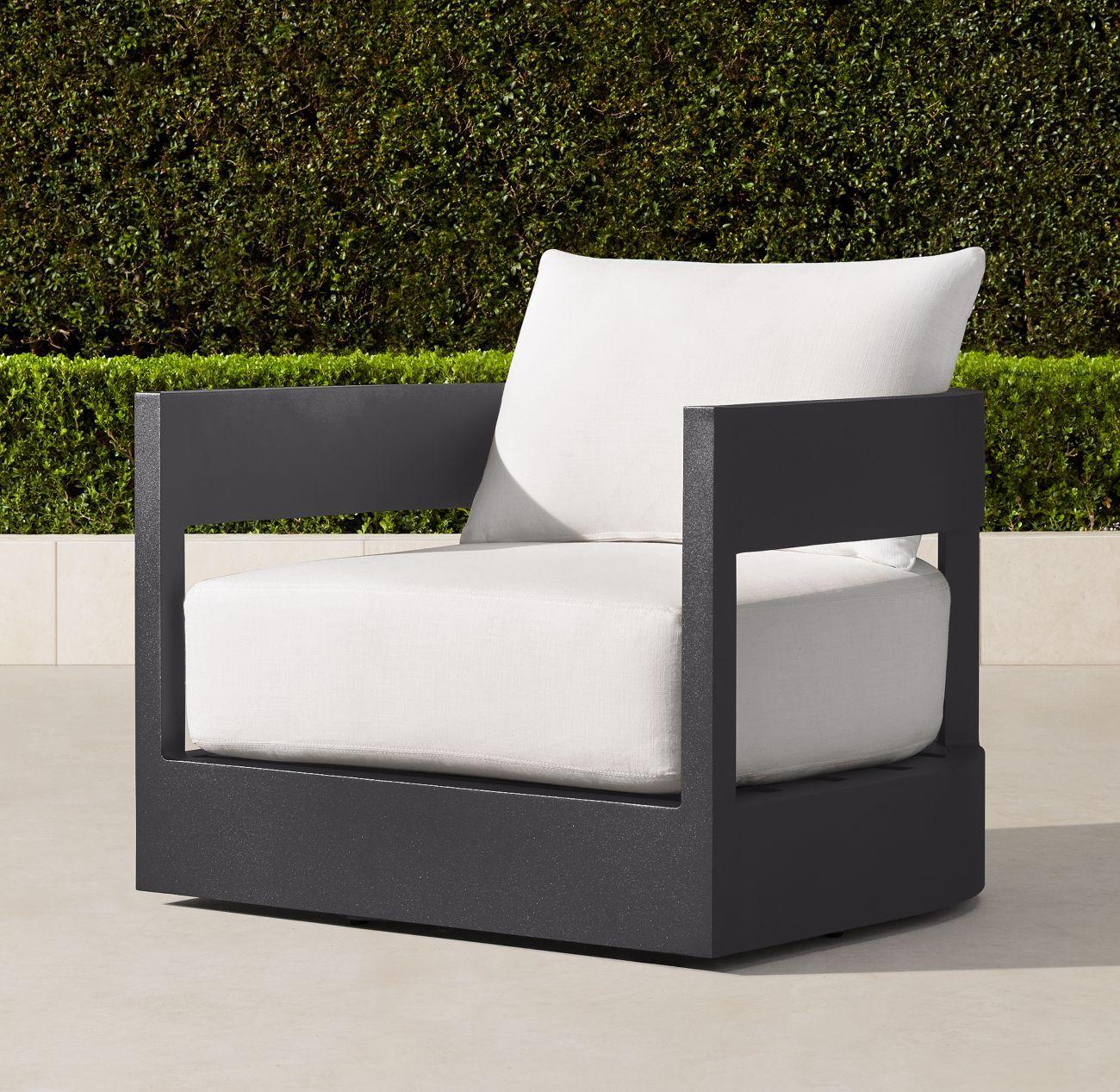 Balmain aluminum swivel lounge chair lounge chair