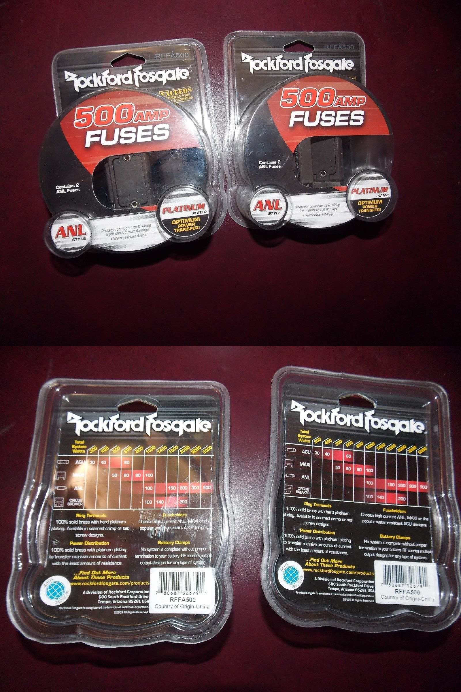 fuses and fuse holders 2 rockford fosgate rffa500 500 amp anl fuses and fuse holders 2 rockford fosgate rffa500 500 amp anl fuses for anl style