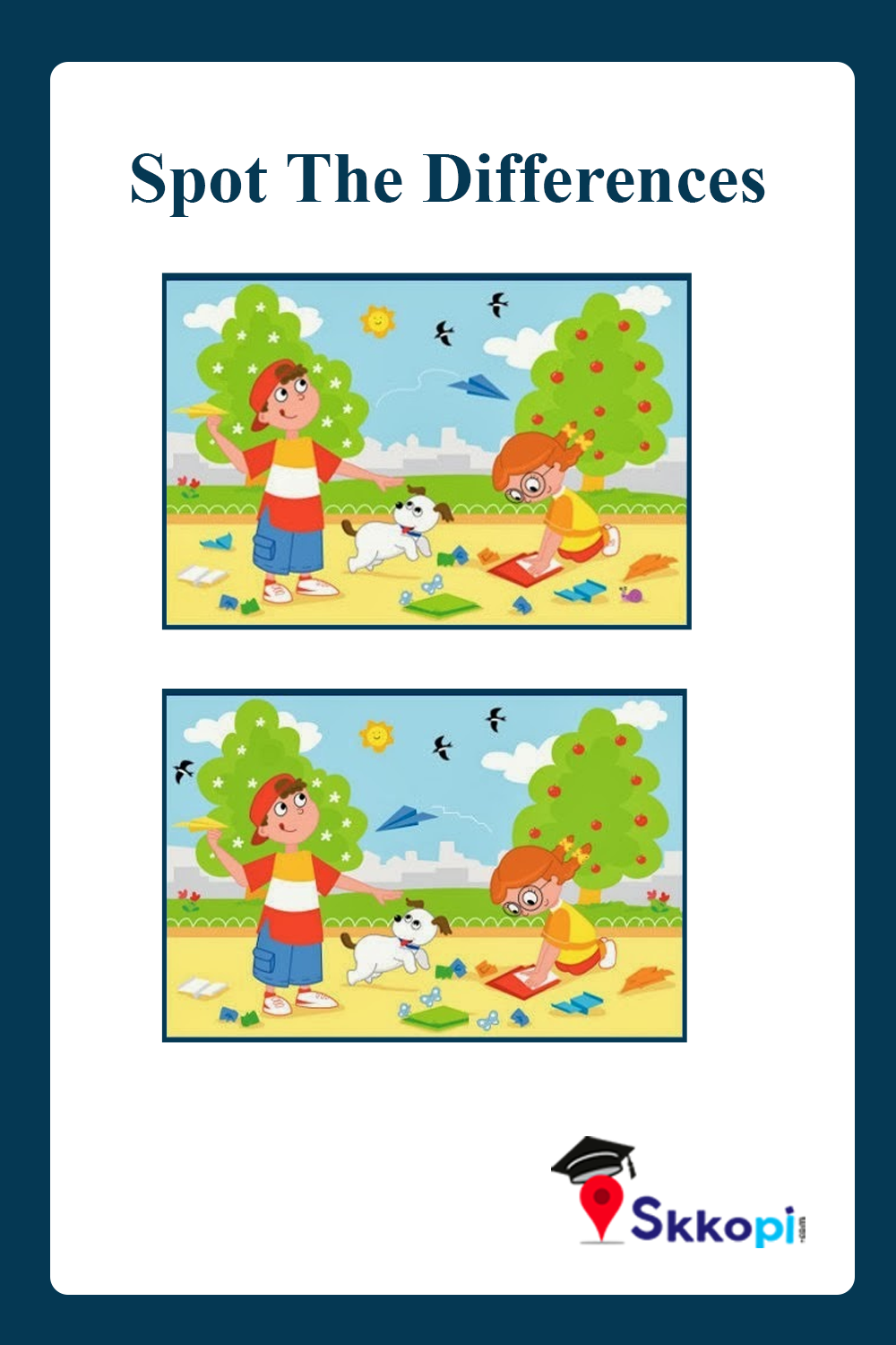 Spot The Differences Brain Teaser Brain Teasers Brainstorming Math