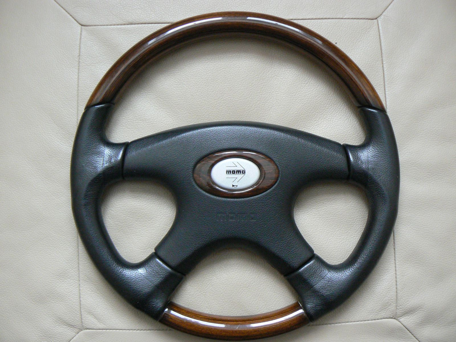 Momo Steering Wheel (Sport Racing Leather & Wood, Used Car Steering ...