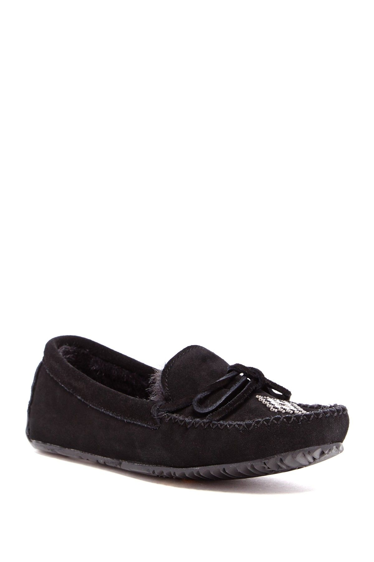 Canoe Faux Fur Lined Moccasin