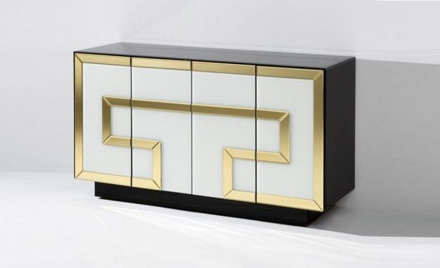 Credenza Con Puertas De Cristal : Aparador cristal multicolor c puertas muebles y decoración de