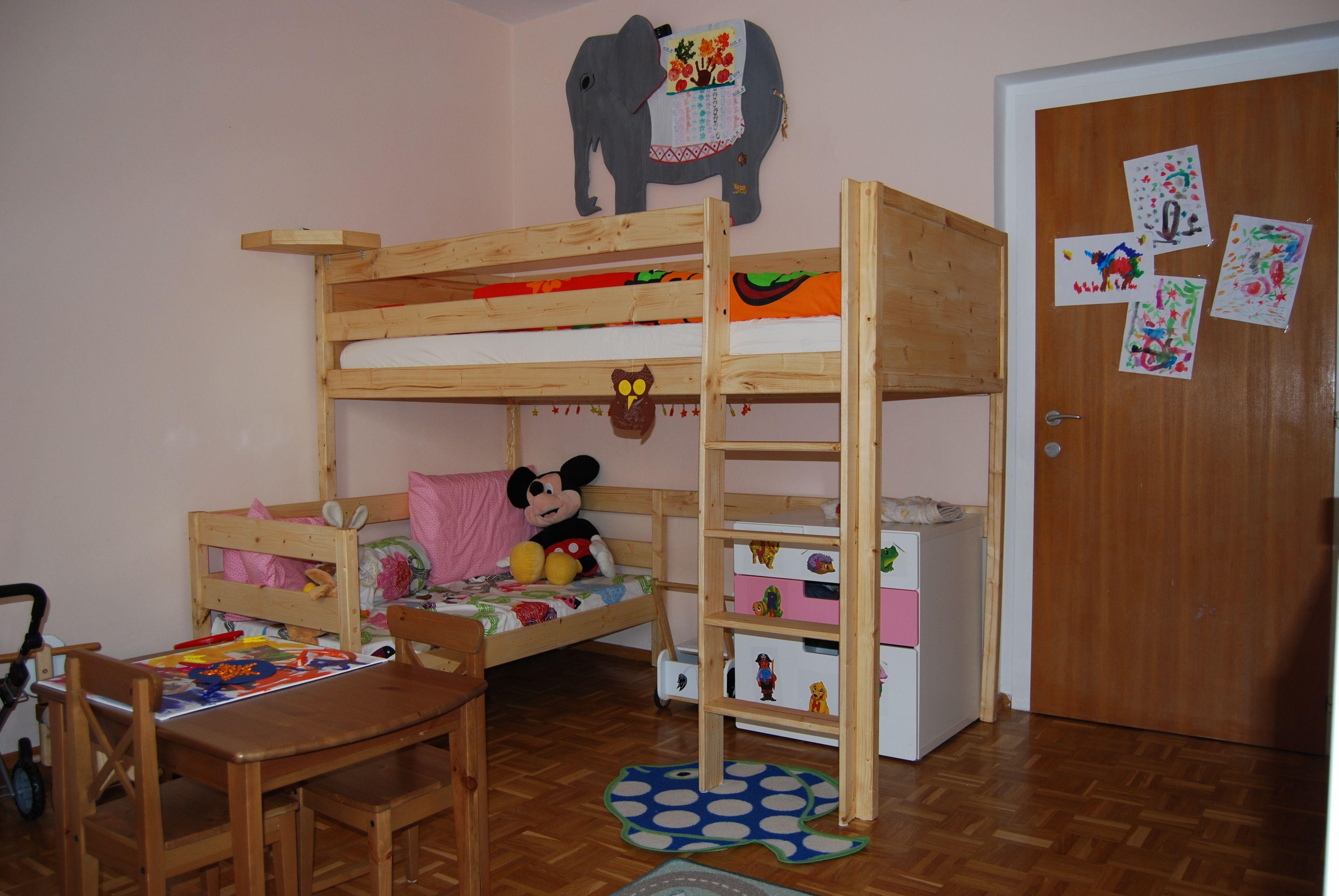 Etagenbett Für Puppen Selber Bauen : Hochbett für die große bauanleitung zum selber bauen hoizbastla´s