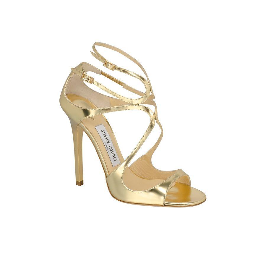 e93177144707f seleccion de zapatos clasicos o poco convencionales para novias  sandalias  doradas de Jimmy Choo