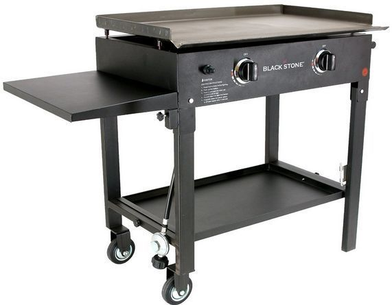 We LOVE our griddle! First Summer with it ... AMAZING! We take it camping with us. Easy to assemble & disassemble. Can grill a 4 course meal for many people. Griddle Outdoor BBQ Grill Tailgating Stove Gas Barbecue Double Burner Taco Cart