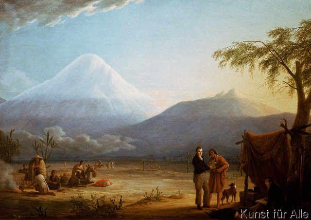Friedrich Georg Weitsch - Alexander von Humboldt und Aime Bonpland im Tal von Tapia am Fuß des Vulkans Chimborazo