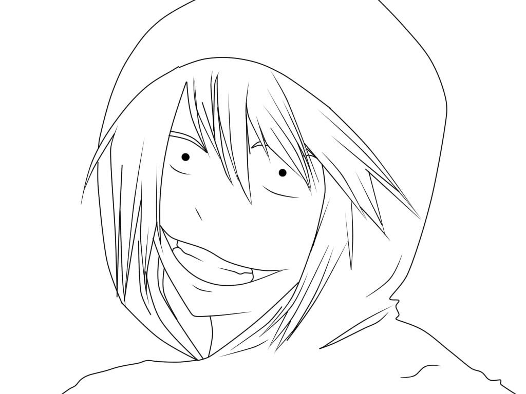 Creepypasta Jeff The Killer Anime Coloring Pages