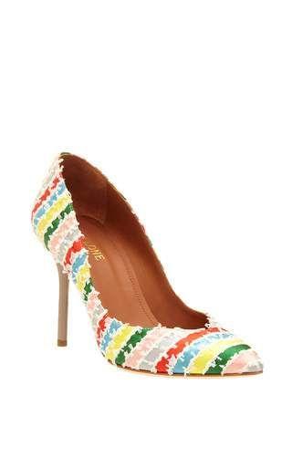 Brenda stripe heel by MALONE SOULIERS for Preorder on Moda Operandi