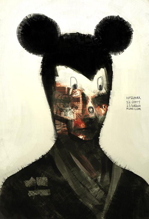 'Homage to Micky Mouse', Gabriel Lumazark, pop art.