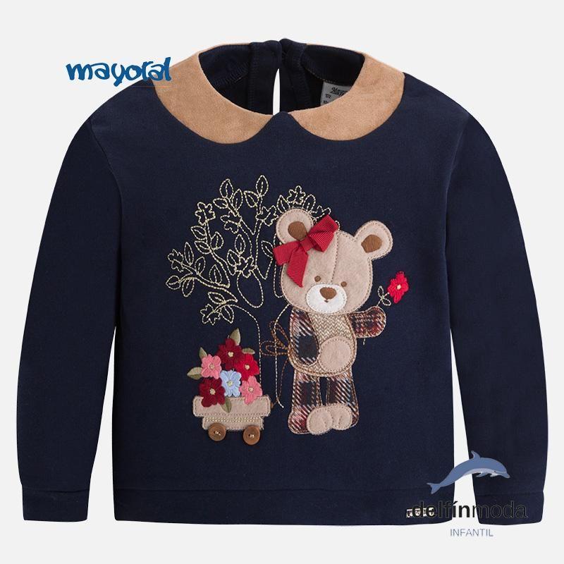 Sudadera para niña MAYORAL felpa con oso bordado  1322d24b5f6c