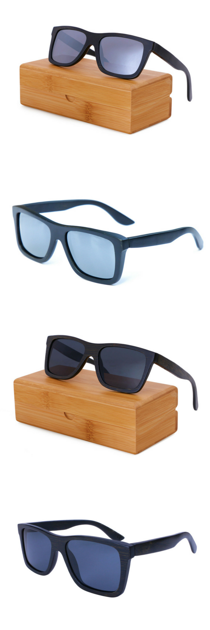 9196bd904f These men s sunglasses are made from 100% premium bamboo. They feature polarized  lenses available