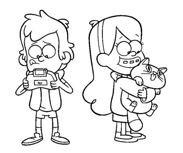Dipper Pines And Mabel Pines Playing On Their Own Gravity Falls Coloring Page Kids Play Color Fall Coloring Pages Fall Coloring Sheets Coloring Pages