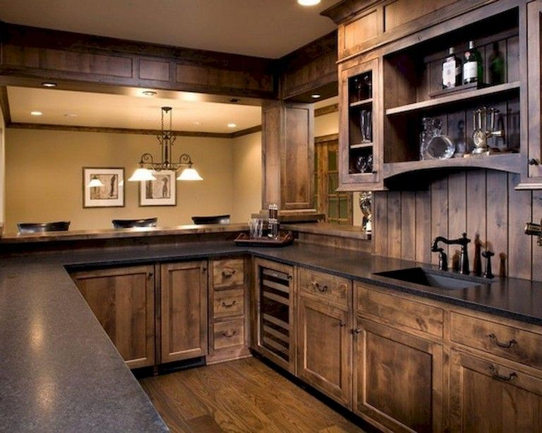 31 Awesome Kitchen Designs Ideas With Rustic Cabinets Farmhouse