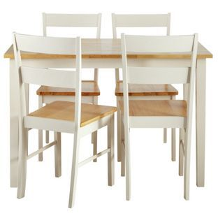 Buy Chicago Dining Table And 4 Two Tone Chairs At Argoscouk