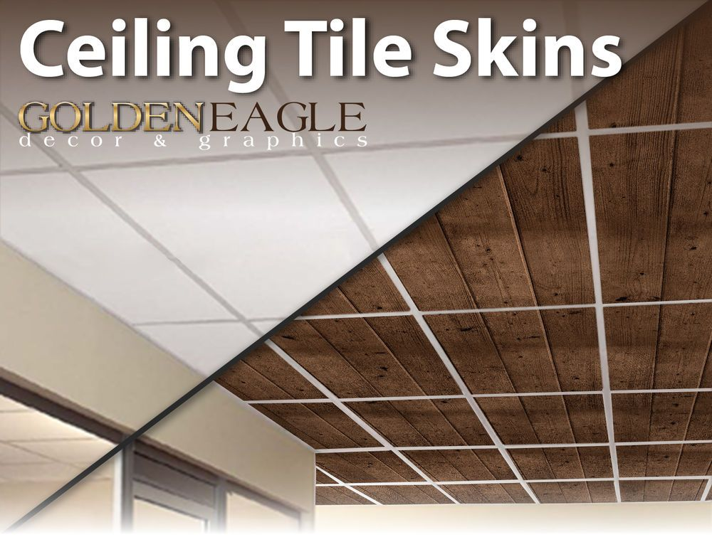 Decorative Wood Ceiling Tiles Lot Of 6 Ceiling Tile Skin Glue Up Wide Dark Knotty Pine Wood