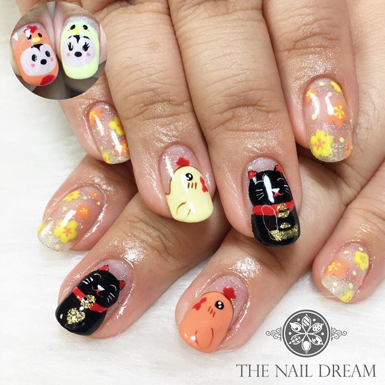 Lunar New Year 2017: Rooster Nail Art - - NAILS Magazine | Animal ...