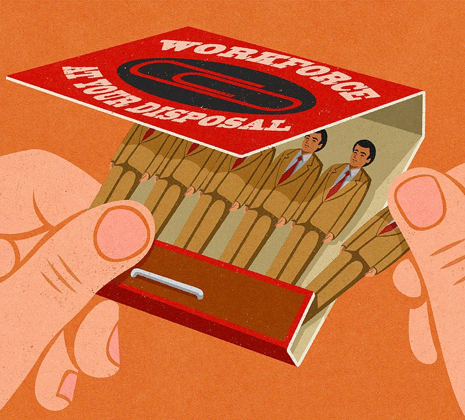 Satiric Illustrations Retro Ads Style John Holcroft 14 Satirical