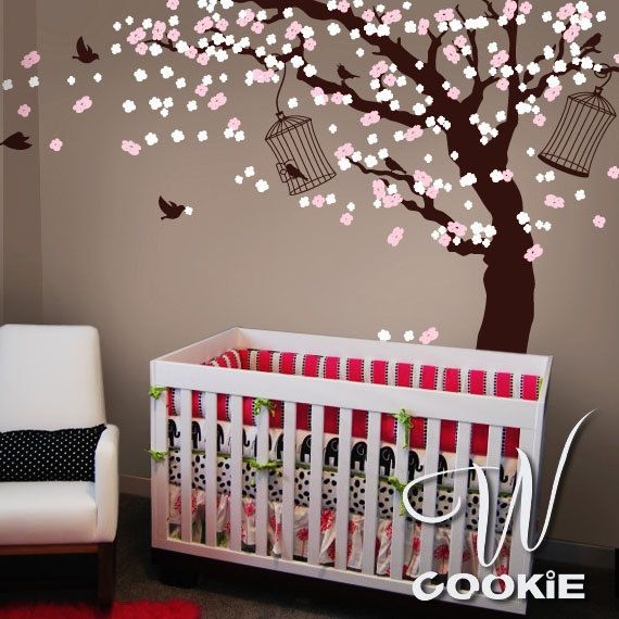 Cherry Blossom Tree Nursery Wall Decal Via Etsy