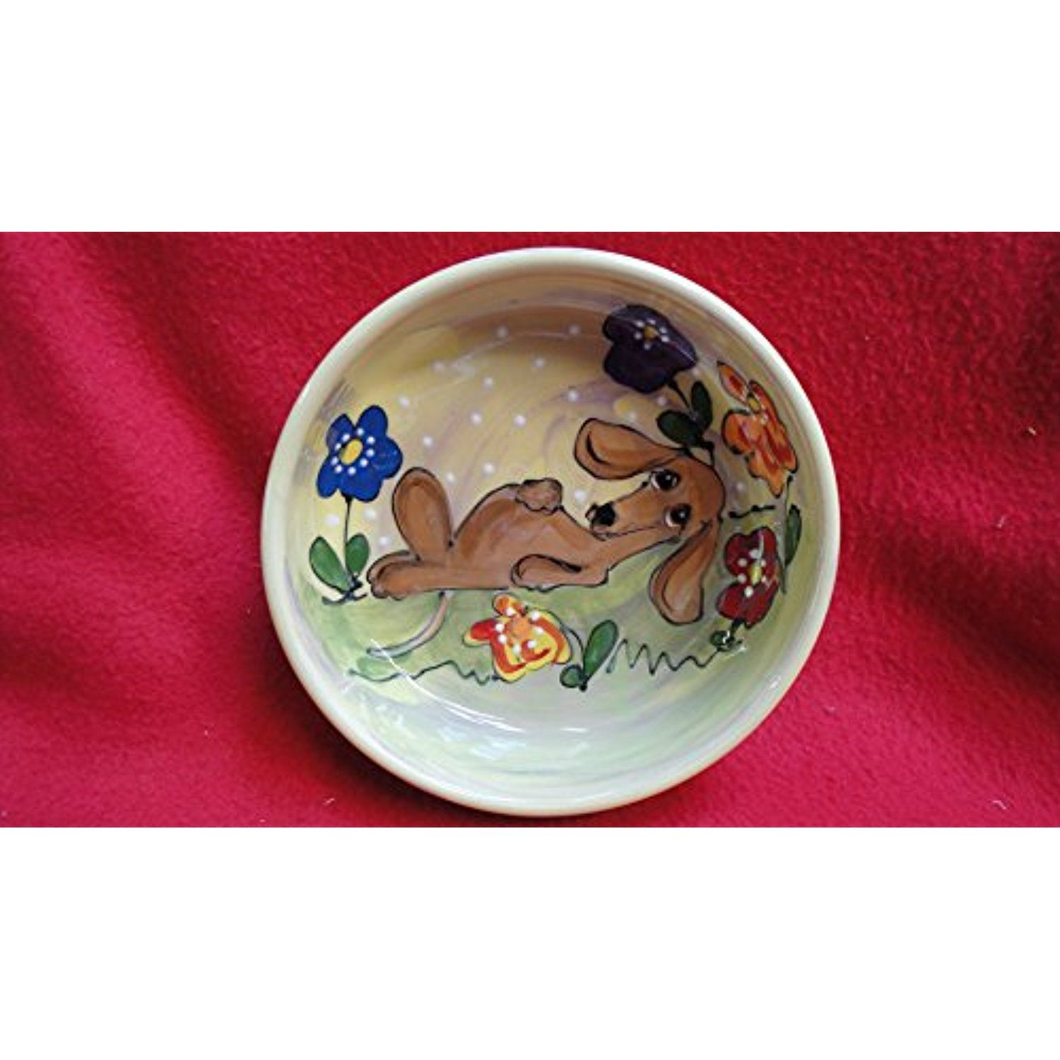 """Dachshund 8"""" Ceramic Dog Bowl for Food or Water"""