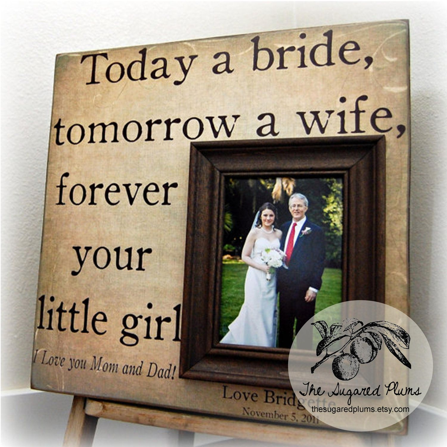 Father Of The Bride Gift From Bride, Today A Bride,