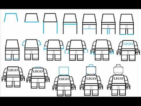 How To Draw A Lego Man / Minifig Step By Step Drawing