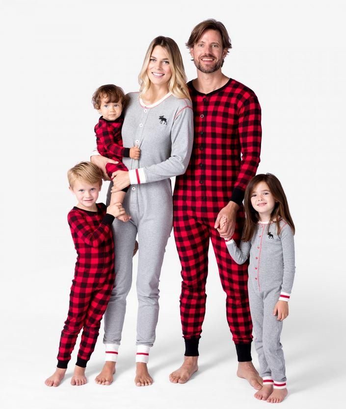 Moose It Up Buffalo Plaid Family Matching PJS - Christmas PJS ...