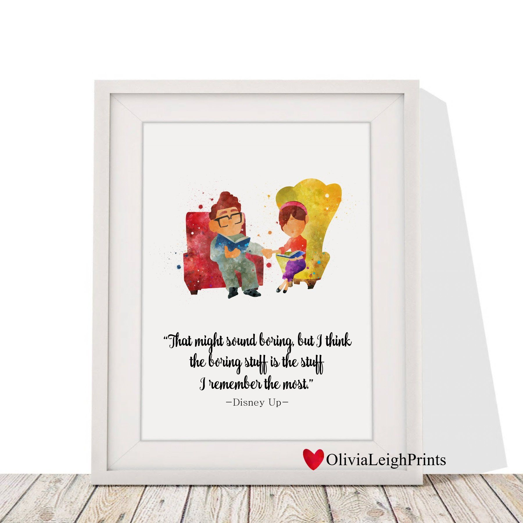 Disney Up Carl And Ellie Watercolour Quote Art Print Wall Art Gift Nursery By Olivialeighprints On Etsy Art Prints Quotes Wall Art Gift Quote Prints