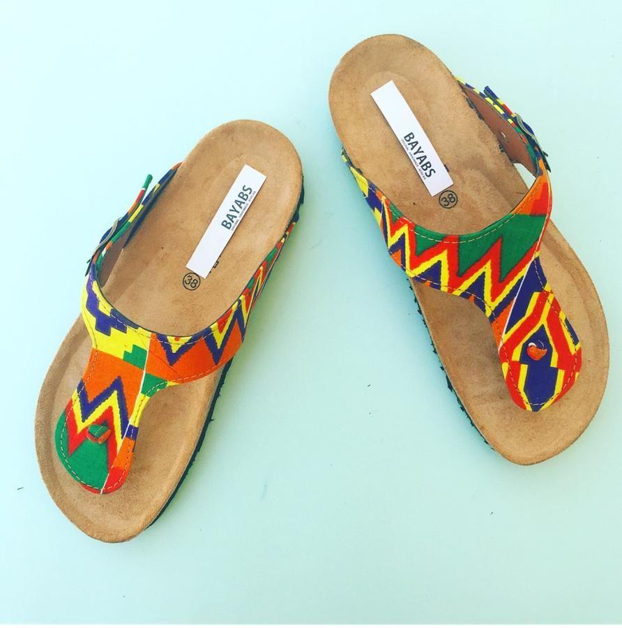 8e807c6265fad African Print Sandals in 2019 | Bayabs ankara Footwear | African ...