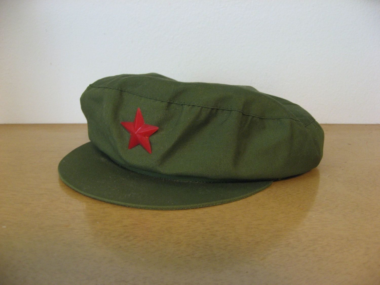 Vintage Chinese Communist Party Chairman Mao Cap Green With Red Star By