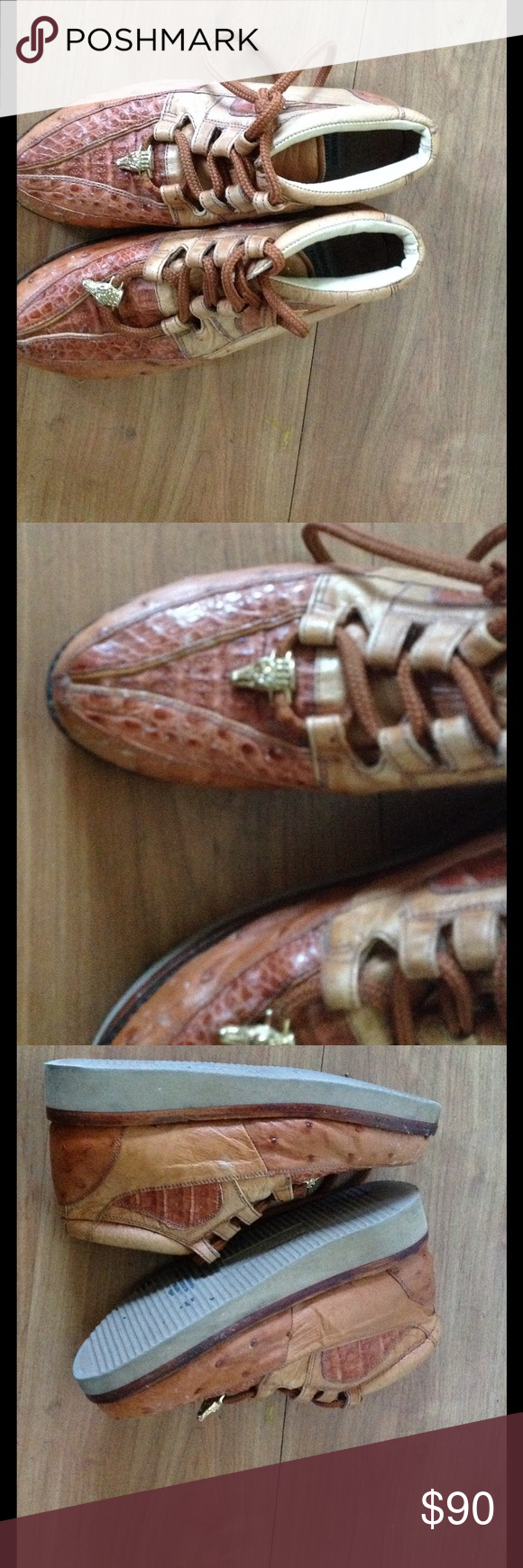 Men's crocodile shoes Crocodile leather shoes with crocodile charm on shoe laces made in USA Hermanos Franco Leather cowboy shoes hermanos franco  Shoes Cowboy & Western Boots