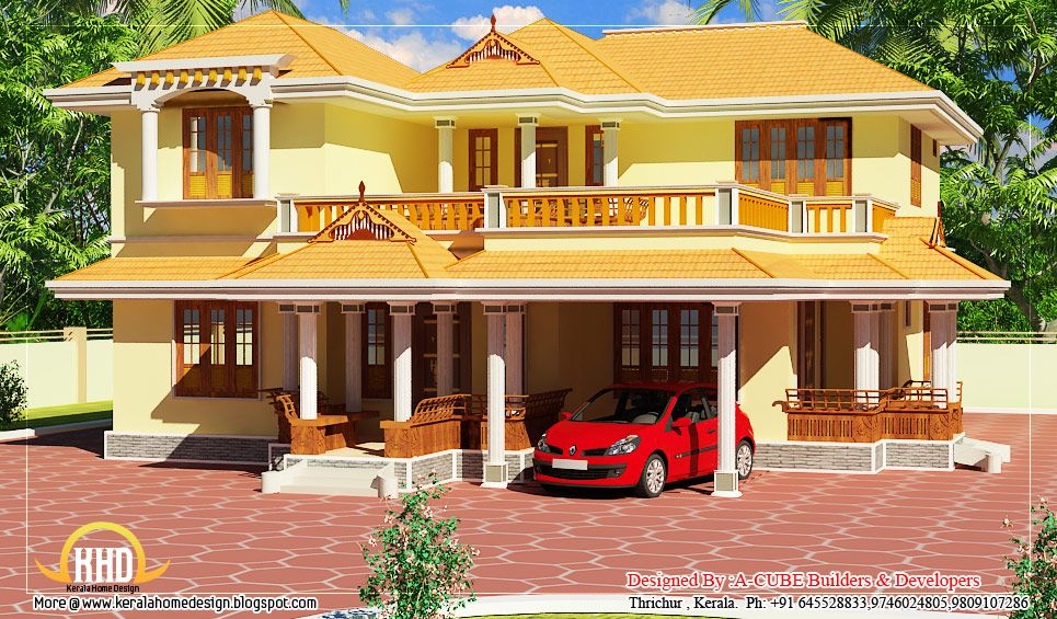 Images of new porches on old homes kerala style duplex house 2550 sq ft 237 sq m 283 - Exterior paint calculator square feet model ...