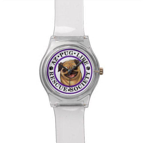 AZ Pug Life watch with clear band Pug life